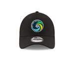 NY COSMOS NEW ERA 940 ADJUSTABLE CAP - BLACK